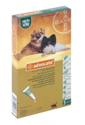 ADVOCATE SML DOG (3 X 0.4ML) <4kg GREEN *ON SPECIAL - PRODUCT EXPIRY DATE 12/2021*