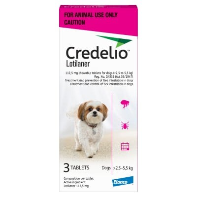 CREDELIO SMALL 112.5MG (2.5 - 5.5KG) PINK