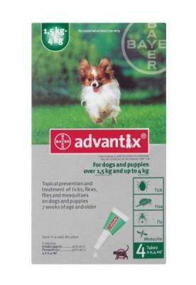 ADVANTIX SML DOG (GREEN) 0-4KG