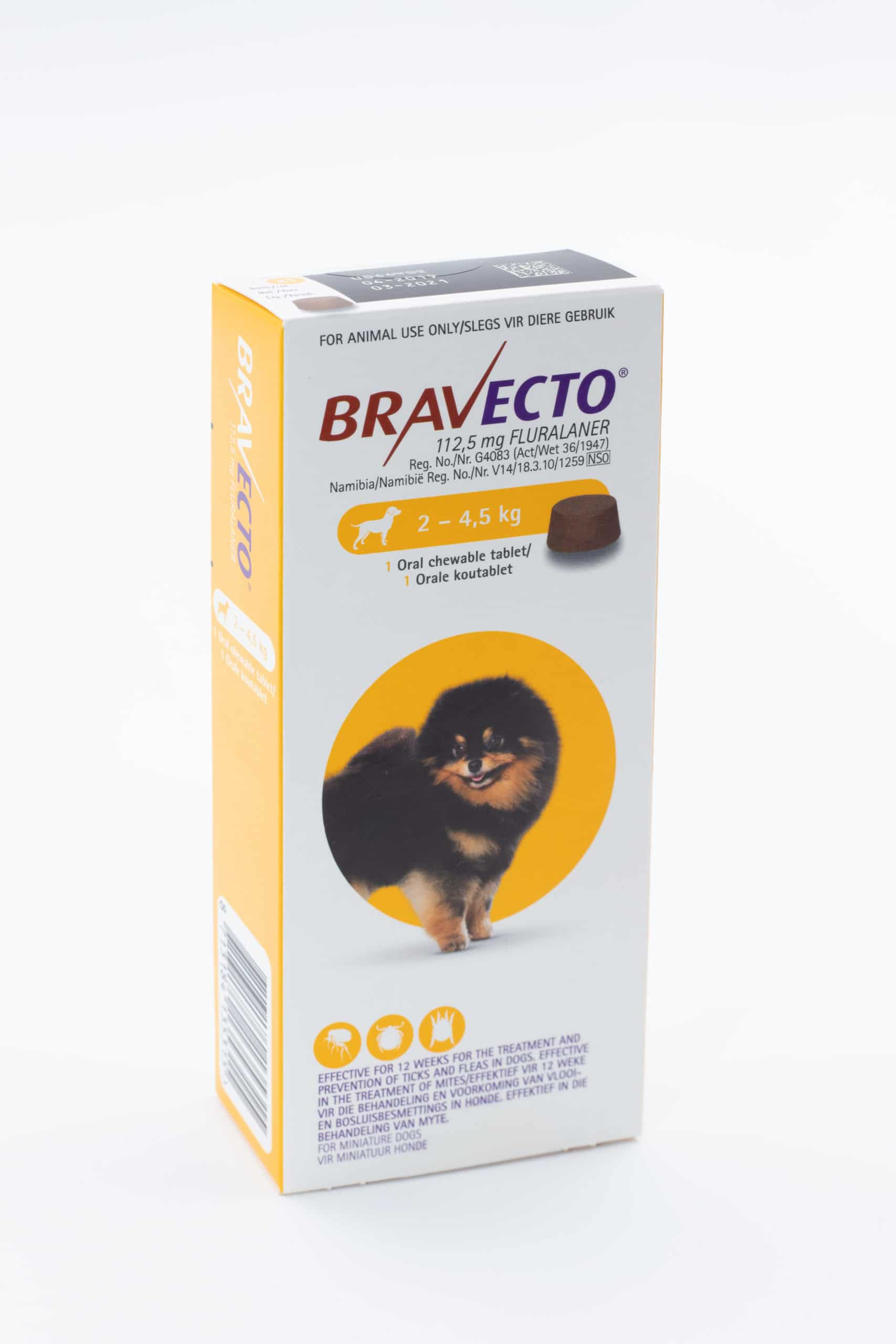 BRAVECTO TOY Chew (2 - 4.5KG)  Yellow **ON SPECIAL** *PRODUCT EXPIRY 02/2022*