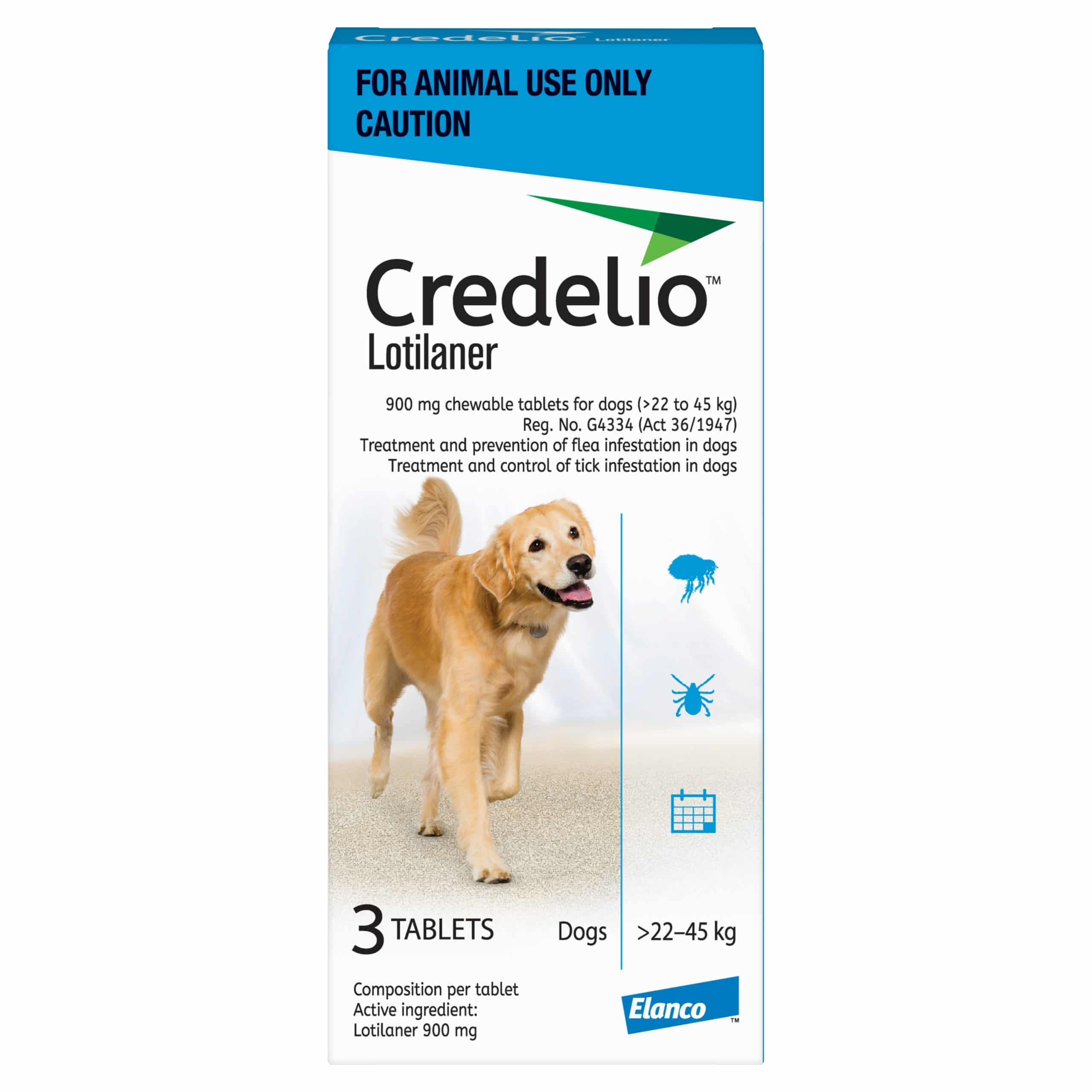 CREDELIO EXTRA LARGE 900MG (22 - 45KG) BLUE