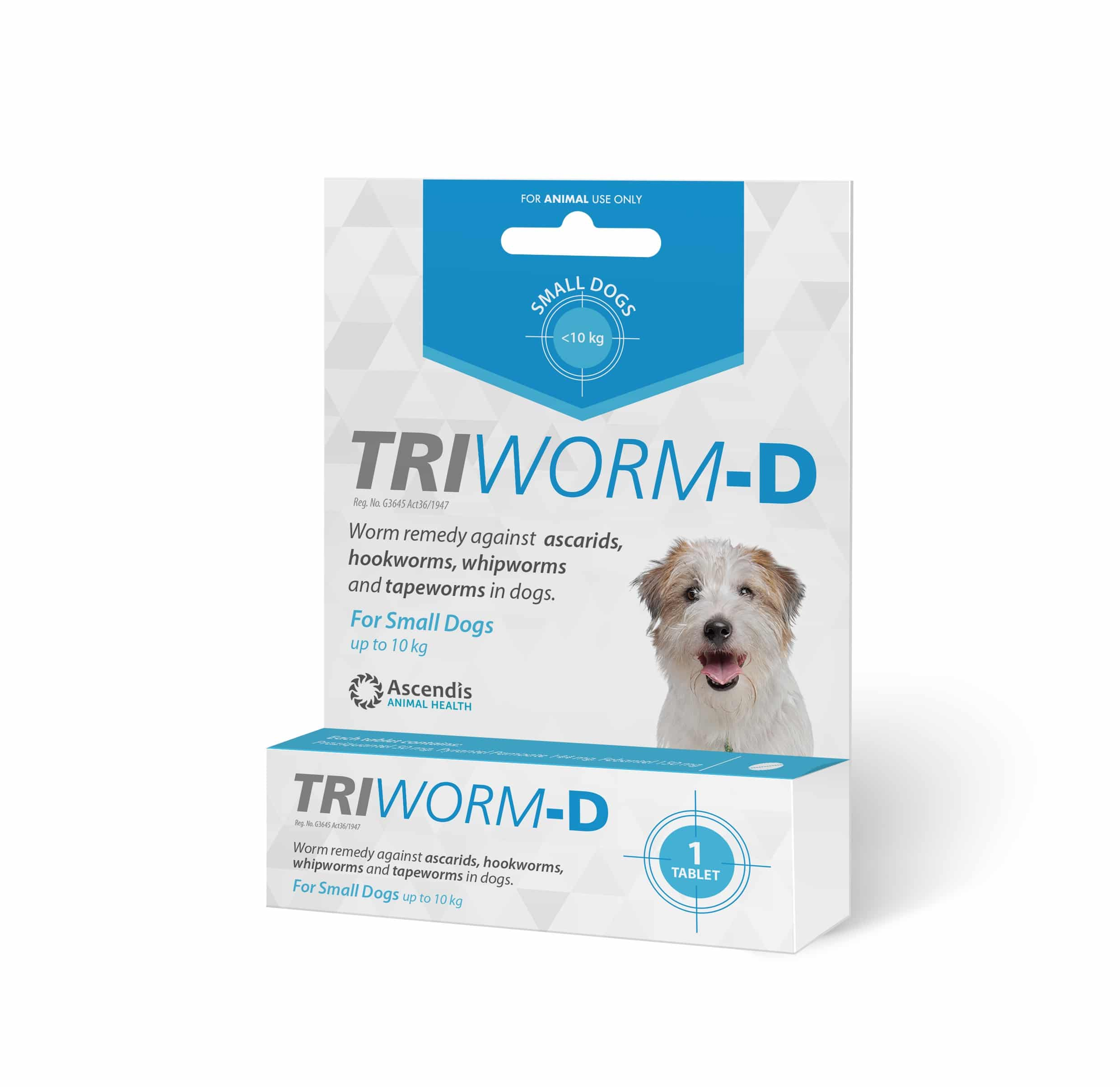 TRIWORM -D Small 0.5>10kg One Treatment